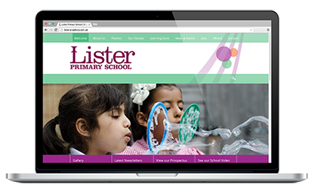 Lister Primary School website